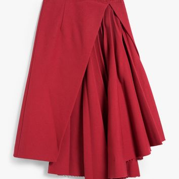 Off-White / Plisse Skirt in Red