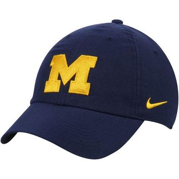 NCAA Michigan Wolverines Heritage 86 Authentic Adjustable Performance Hat - Navy