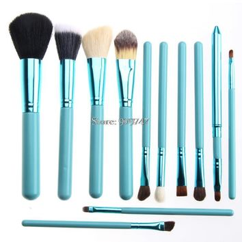 12pcs Professional natural hair Makeup Brush Set Cosmetic Brush Kit Makeup Powder Foundation Eyeshadow Tool