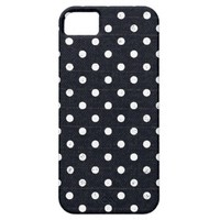 Girly Black White Grunge Polka Dot Pattern iPhone 5 Case