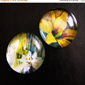 On Sale On Sale Set of 2 Flower Magnets