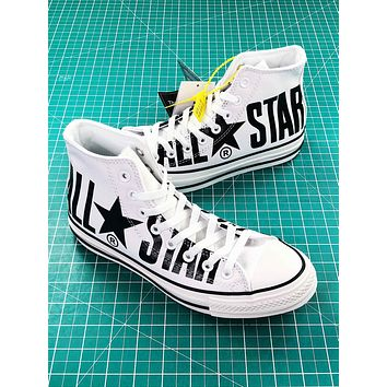 Converse All Star 100th White Balck High Top Shoes