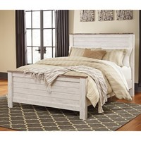 Signature Design by Ashley Willowton Panel Bed - Walmart.com