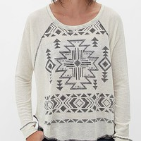 Women's Southwestern Sweatshirt in Cream by Daytrip.
