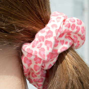 Pink Cheetah Print Scrunchie - Hair Accessories - Accessories
