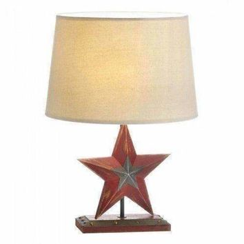 Farmhouse Red Star Table Lamp (pack of 1 EA)