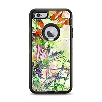 The Green Bright Watercolor Floral Apple iPhone 6 Plus Otterbox Defender Case Skin Set