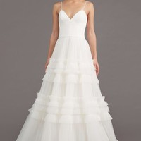 Amsale Saylor Ruffle A-Line Gown (In Stores Only) | Nordstrom
