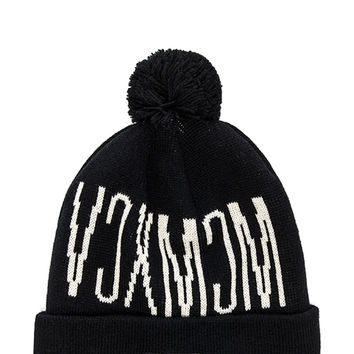 10 Deep Victory Pom Beanie in Black
