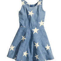 H&M - Denim Dress - Denim blue - Kids