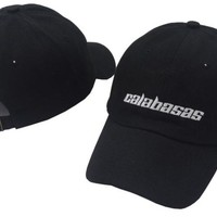 Kanye West Calabasas Male Baseball Cap New Fashion Women's Cap Hip Hop Men's Cap Embroidery Letters Bone Snapback Hats