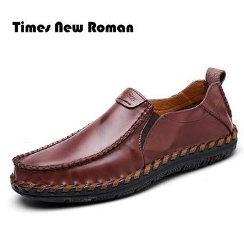 Men casual shoes Genuine Leather shoes men moccasins