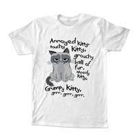 Grumpy Cat Parody For T-shirt Unisex Adults size S-2XL Black and White