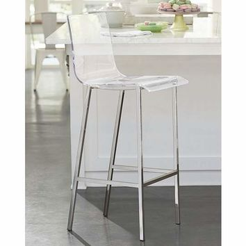 clear acrylic bar stools ikea stool inch canada with back