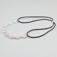 Full Tilt Rhinestone Headband Silver One Size For Women 24188214001
