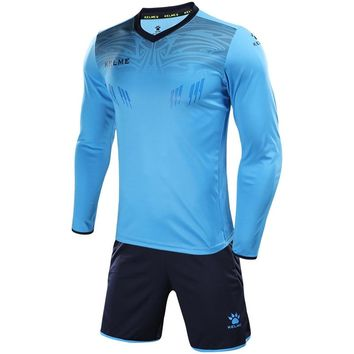 Soccer sets goalkeeper jerseys men sponge football Survetement tracksuit goal keeper uniforms goalie sports training pants suits