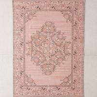 Stina Floral Space Dyed Printed Rug - Urban Outfitters