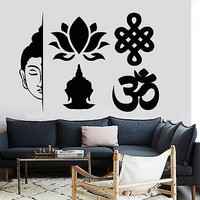 Wall Decal Buddha Elements Buddhism Yoga Meditation Vinyl Sticker (z2861)
