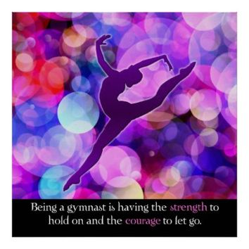 Gymnastics is strength and courage Poster