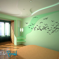 Vinyl Wall Decal Sticker Flying Birds #793