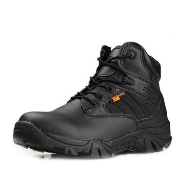 Outdoor Military Tactical Boots Round Toe Men Desert Combat Boots Outdoor Mens Leather Army Ankle Boots