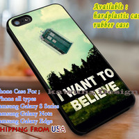 I Want to Believe Tardis Quote iPhone 6s 6 6s+ 6plus Cases Samsung Galaxy s5 s6 Edge+ NOTE 5 4 3 #movie #superwholock #doctorwho #sherlockholmes #ThexFiles dl3