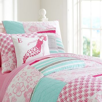 Surf Patch Quilted Bedding   Pottery Barn Kids