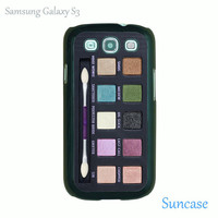 Samsung Galaxy S3 case -- Eyeshadow set,make up style,Samsung plastic case in black or white