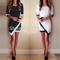 Fashion Womens Bandage Bodycon Asymmetric Evening Sexy Party Cocktail Mini Dress