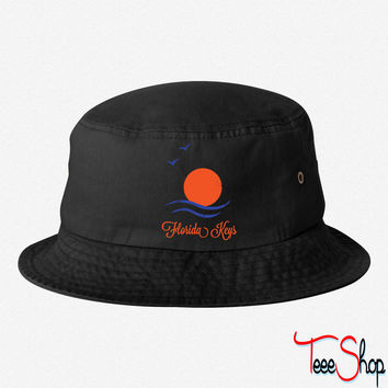 Florida Keys (Vintage) bucket hat