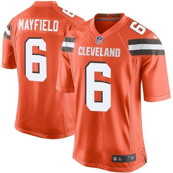 Youth Cleveland Browns Baker Mayfield Nike Orange Player Game Jersey