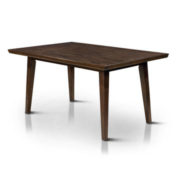Joplin Mid-Century Modern Dining Table, Walnut