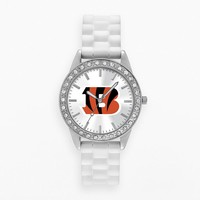 Game Time Watch - Women's Frost Series Cincinnati Bengals Silicone (White)