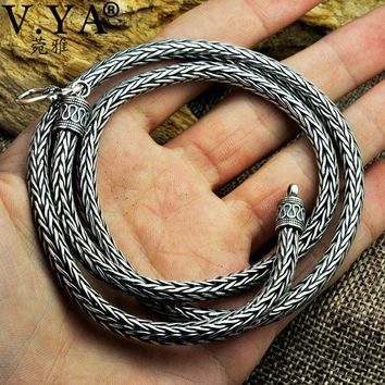 5MM Solid 925 Sterling Silver Snake Chain Necklaces For Men 50cm 55cm 60cm