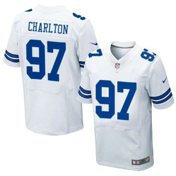 KUYOU Dallas Cowboys Jersey - Taco Charlton - Men's White Elite Football Jersey