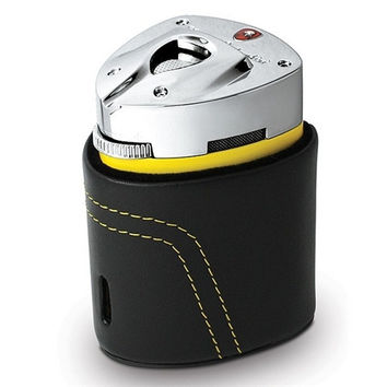 Tonino Lamborghini Mugello Yellow Triple Torch Flame Table Lighter