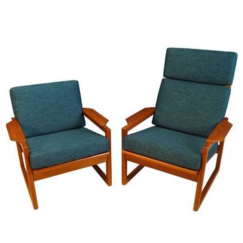 Pre-owned Danish Teak Lounge Chairs by Ib Kofod Larsen