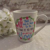 Mother's Day Coffee Mug ~ Mom Gift from Daughter or Son ~ Inspirational Fun Quote for Mum ~ Unique Present for Wife from Husband ~