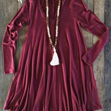 Kodie Dress - Maroon
