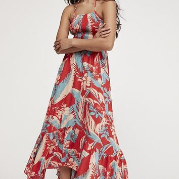 Free People - Red Multi Headquarter Wave Printed Maxi Dress