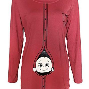 Amazing Speed Women Christmas Plus Size Funny Baby Maternity Shirts Pregnant Top Blouse