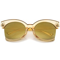 Women's Oversize Side Cut Transparent Sunglasses A492