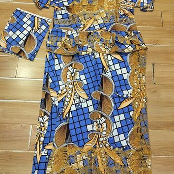 African WAX/KITENGE DASHIKI make by cordding embroidery lady clothes,