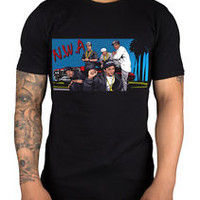 N.W.A Cartoon Graphic T-Shirt West Coast Gangsta Rap Dr Dre Ice Cube