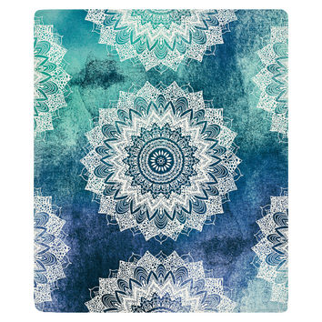 Boho Chic Mandalas Fleece Throw