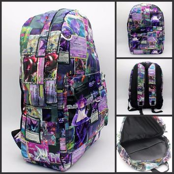Japan anime Pocket Monster Gengar Backpack print men women bag School Bag Travel bag