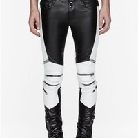 Indie Designs Faux Leather Biker Pants