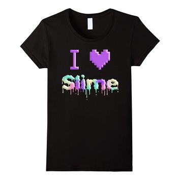 I Love Slime Rainbow Dripping T-Shirt