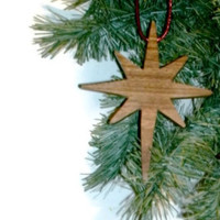 Star Ornament -  Wooden Decor - READY TO SHIP