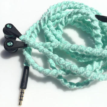 Mint Julep MyBuds Wrapped Headphones Tangle Free Earbuds Your Choice of Headphones
